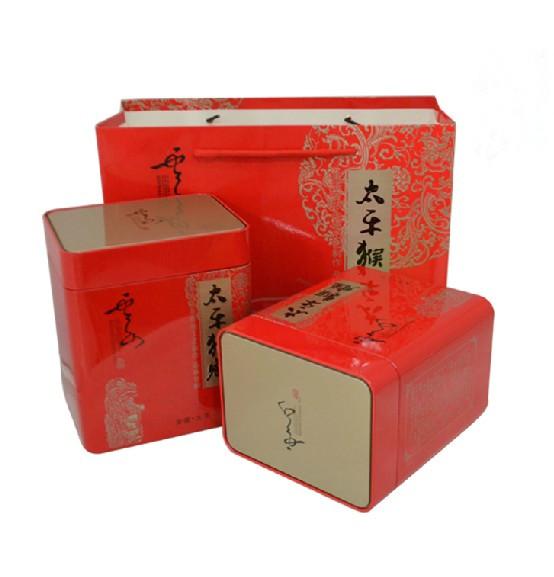 太平猴魁1915红色铁盒图片